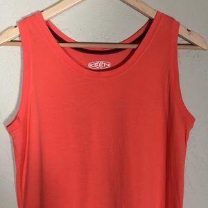 Keen Tops - Keen tank top orange sz. L 100% cotton